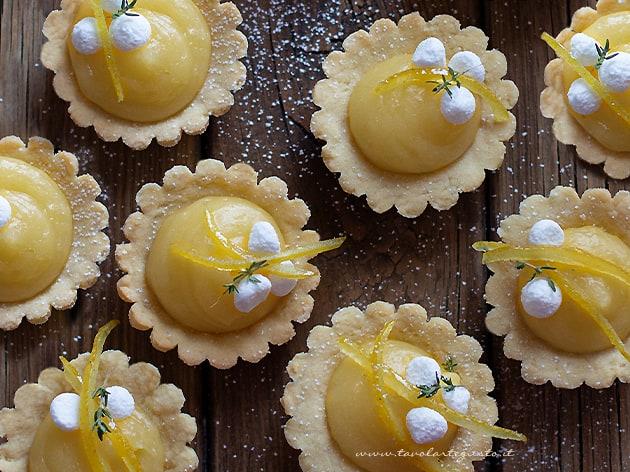 crostatine al limone- Ricetta crostatine alla crema di limone-