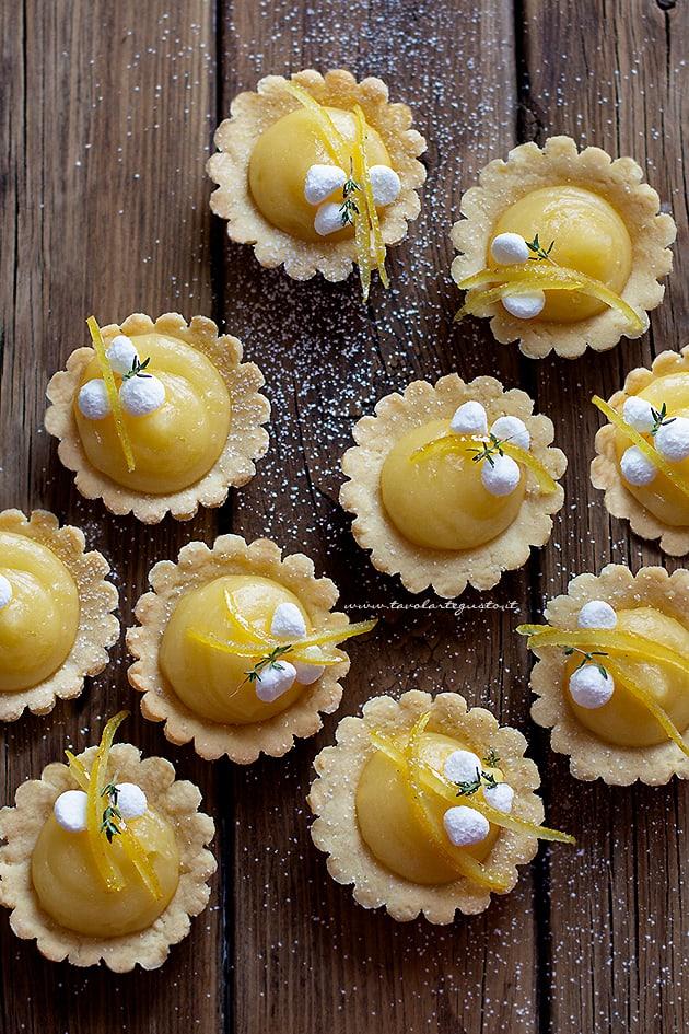 crostatine al limone- Ricetta crostatine alla crema di limone