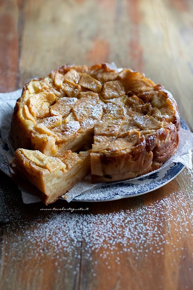 Torta invisibile di mele - Ricetta Torta di mele invisibile