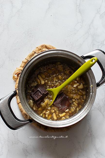 aggiungere il cioccolato - Ricetta Crema di castagne