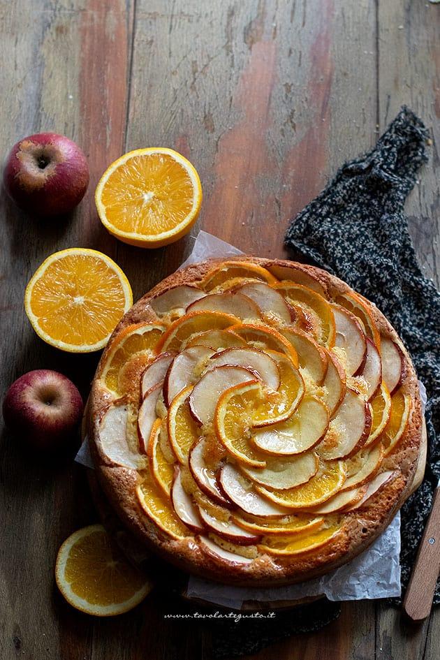 Torta di mele e arance