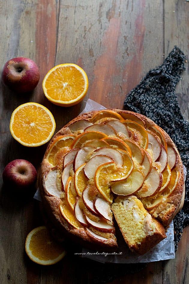 Torta mele e arance - Ricetta Torta mele e arance-