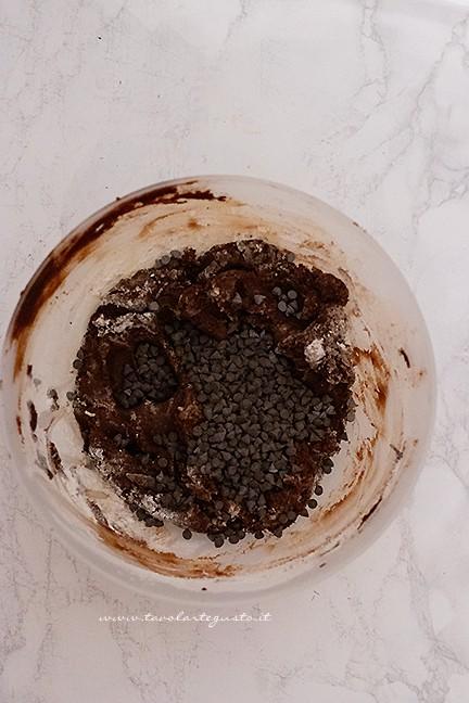 Impasto biscotti al cioccolato