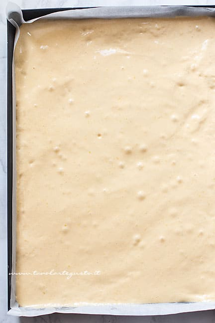realizzare la pasta biscotto - Ricetta Tronchetto di Natale