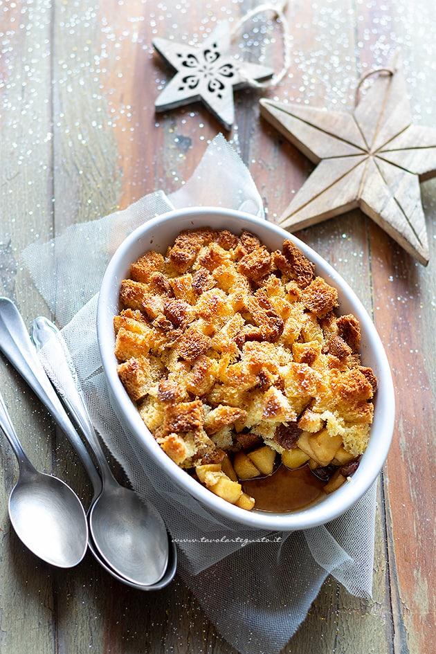 Crumble di pandoro - Ricetta Crumble di pandoro e mele-