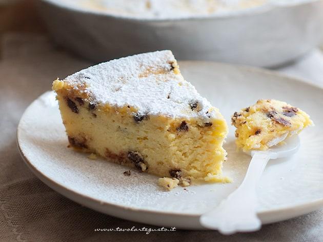 Torta ricotta e cioccolato - Ricetta Torta e cioccolato cremosa