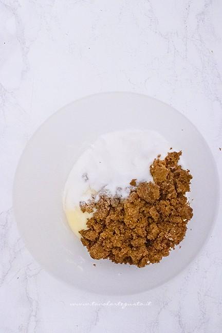 aggiungere gli ingredienti in ciotola - Ricetta Cookies