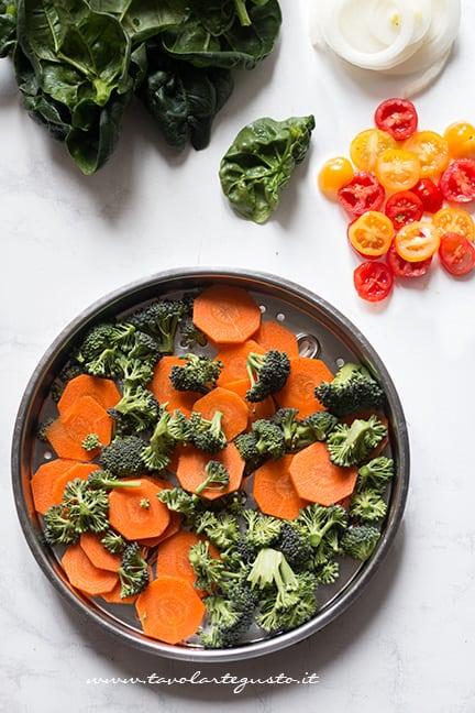 cuocere a vapori verdure - Ricetta frittata di verdure