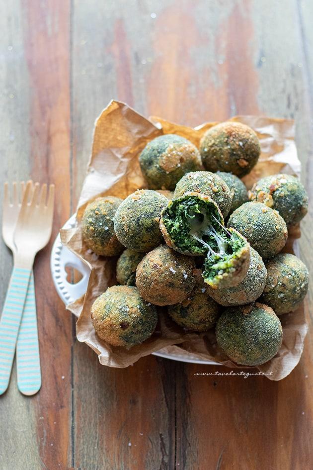 Polpette di spinaci - Ricetta Polpette di spinaci-