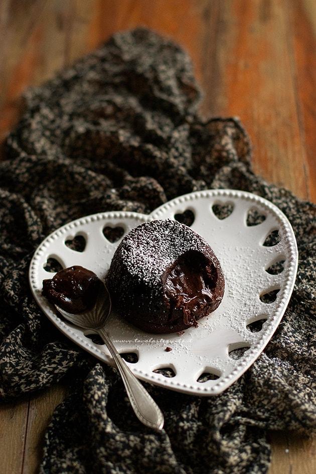 Ricetta Tortino al cioccolato con cuore morbido-
