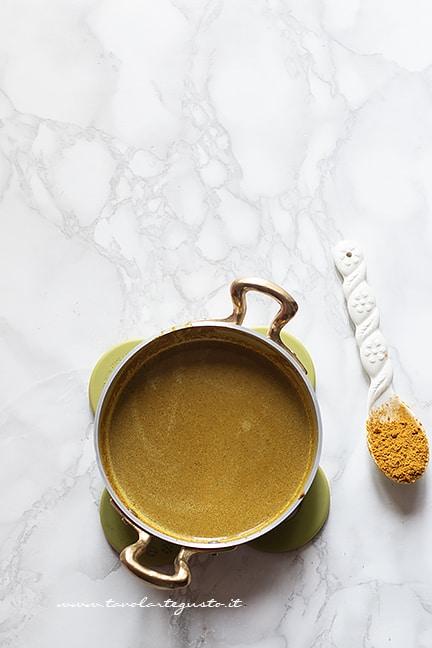 Salsa al curry - Ricetta pollo al curry