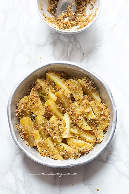 aggiungere il gratin croccante - Ricetta Patate gratinate