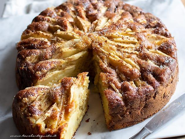 Torta senza lievito - Torta di mele senza lievito