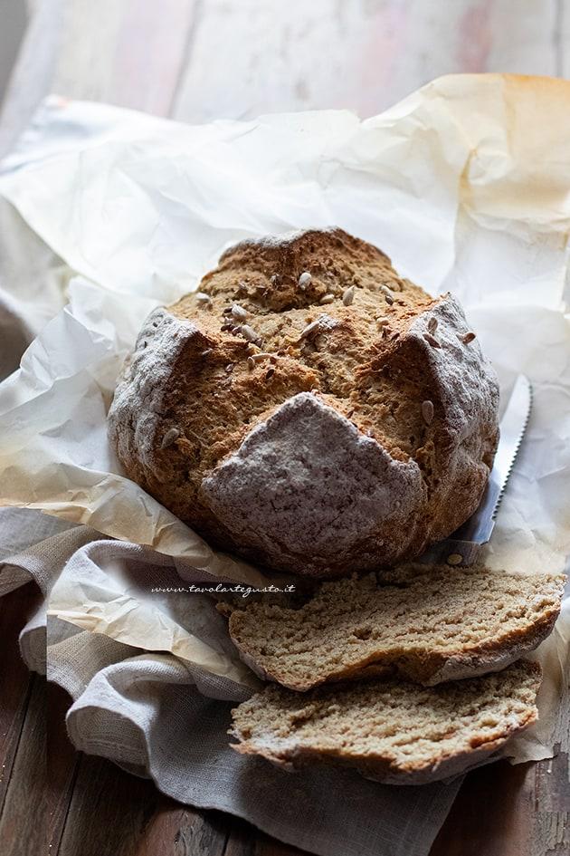 Soda bread - Pane con bicarbonato - Pane irlandese-