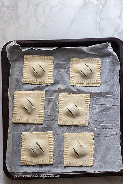 cuocere in forno i fagottini alla nutella