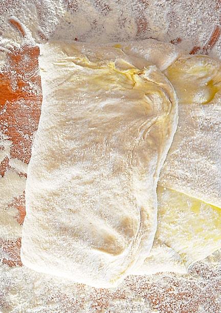 pieghe - pizza bianca romana