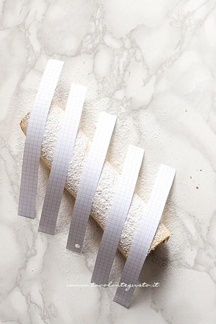decorare il rotolo di nutella - Ricetta Rotolo alla nutella