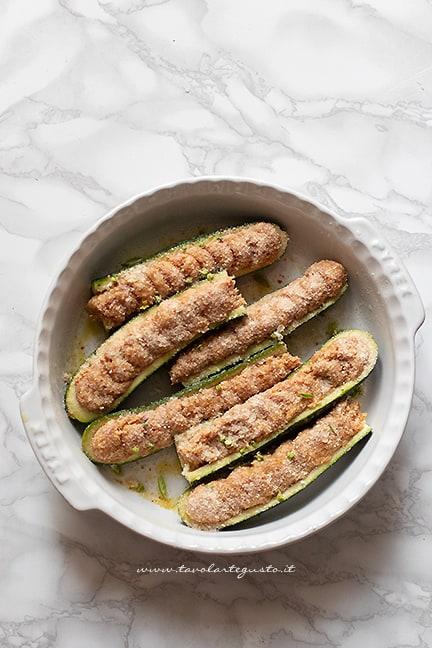cuocere le zucchine ripiene al forno
