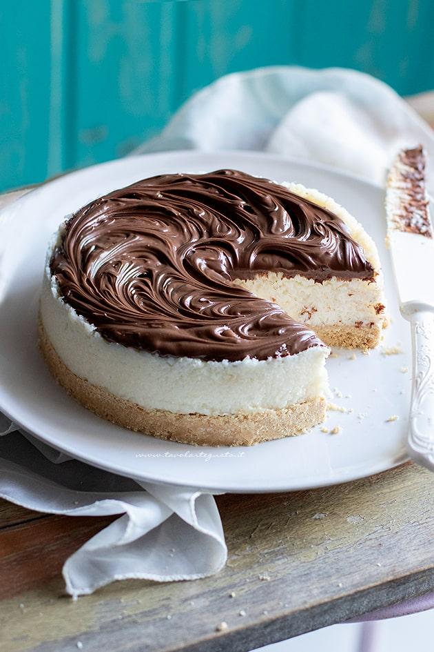 Cheesecake cocco e nutella - Cheesecake al cocco-