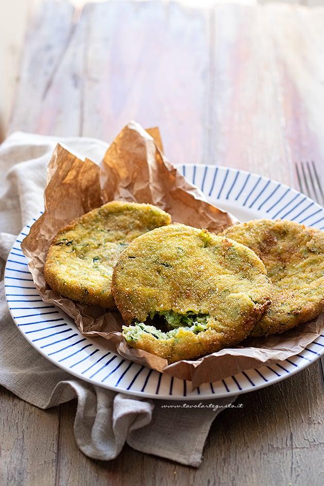 Cotolette di zucchine - Ricetta Cotolette di zucchine-