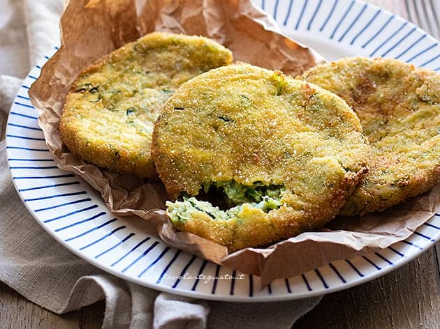 Cotolette di zucchine - Ricetta Cotolette di zucchine
