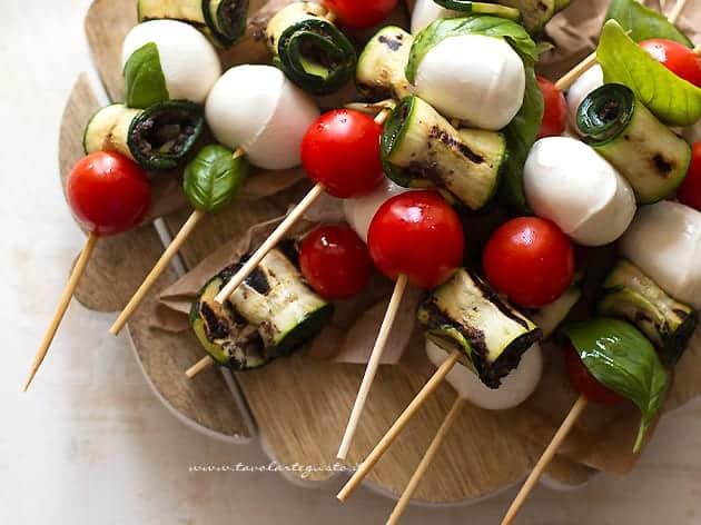 Spiedini di zucchine - Ricetta Spiedini di zucchine