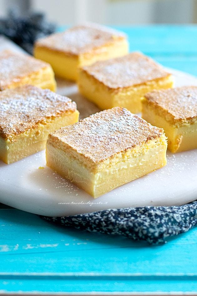 Torta magica - Ricetta Torta magica alla vaniglia-