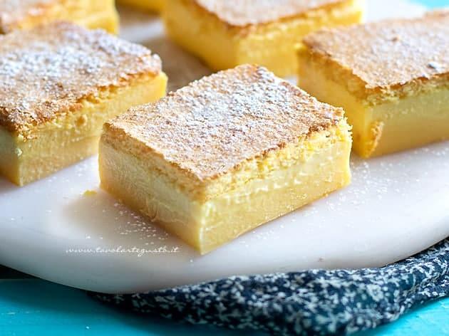 Torta magica - Ricetta Torta magica alla vaniglia