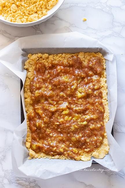 aggiungere i fichi freschi in padella oppure la marmellata di fichi - Ricetta Sbriciolata di fichi
