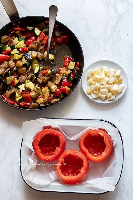 riempire i pomodori- Ricetta pomodori ripieni di verdure