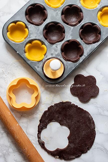 come fare le crostatine al cioccolato