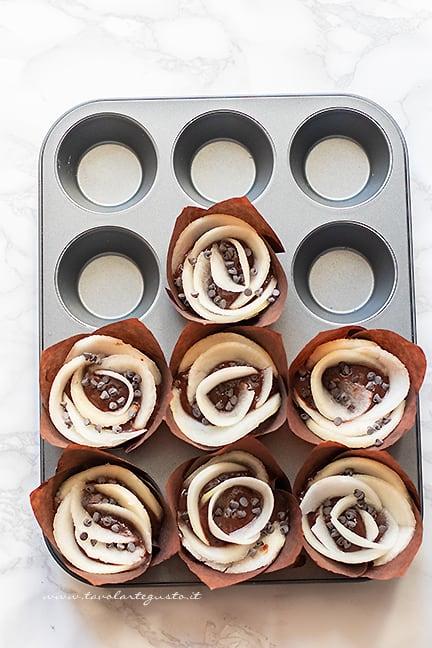 come fare i muffin pere e cioccolato