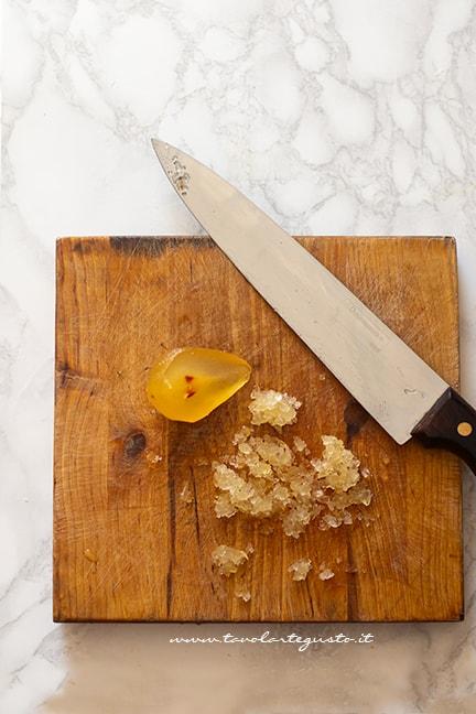 mostarda mantovana per Tortelli di zucca