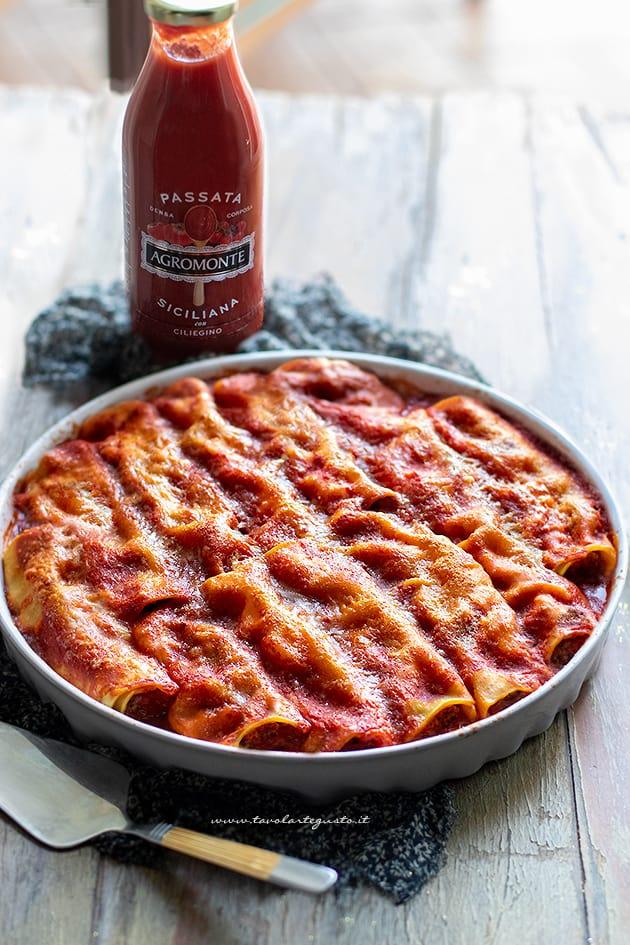 Cannelloni - Ricetta cannelloni ripieni di carne al forno-