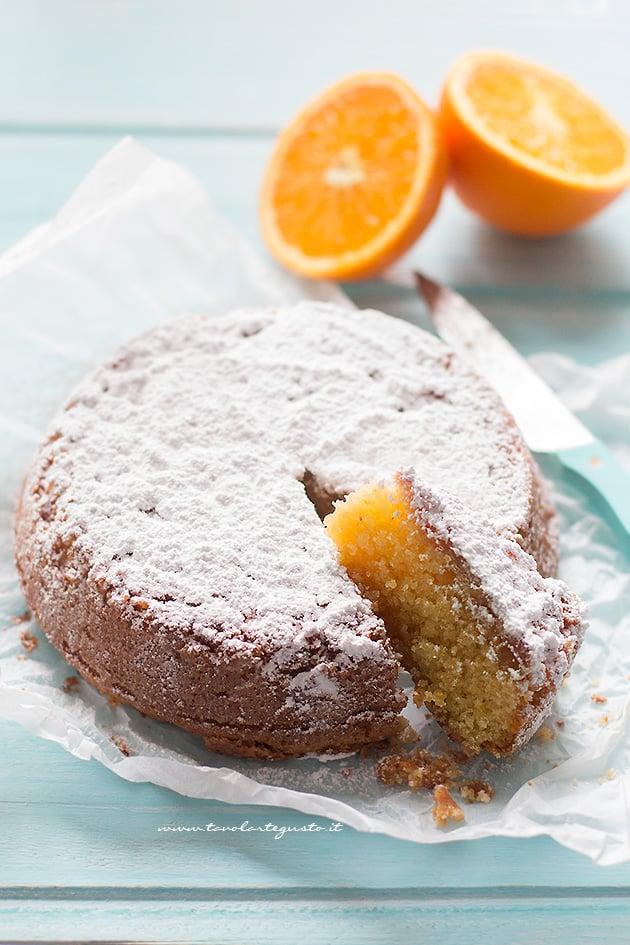 Caprese all'arancia - Ricetta Torta Caprese all'arancia