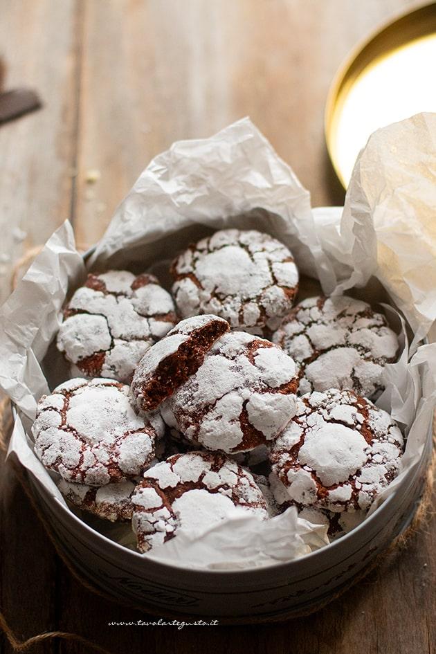 Chocolate Crinkles cookies-