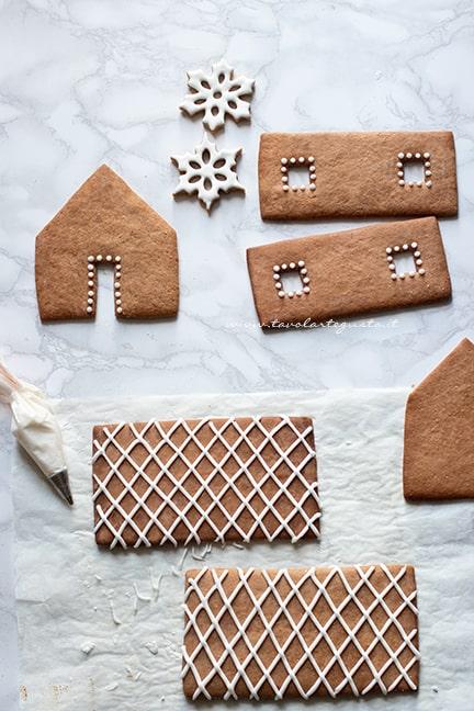 decorare la casetta pan di zenzero