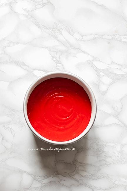 rosso perfetto per una torta red velvet