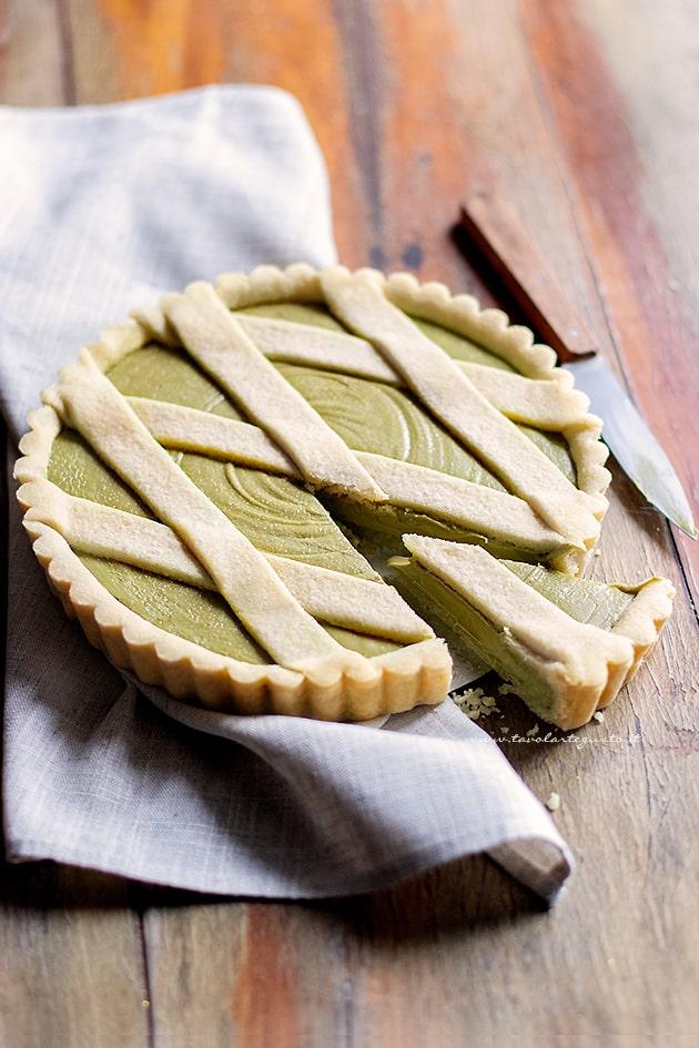 Crostata al pistacchio - Ricetta Crostata al pistacchio-