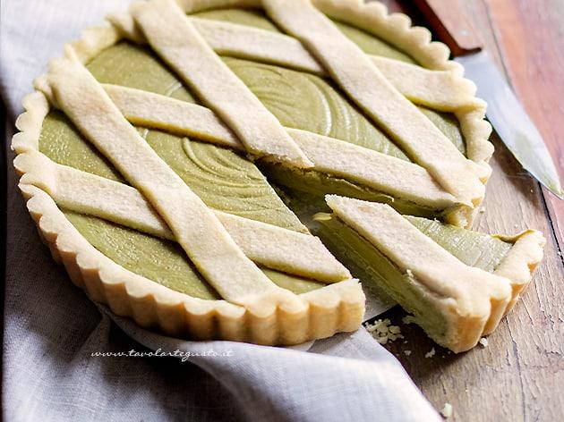 Crostata al pistacchio - Ricetta Crostata al pistacchio