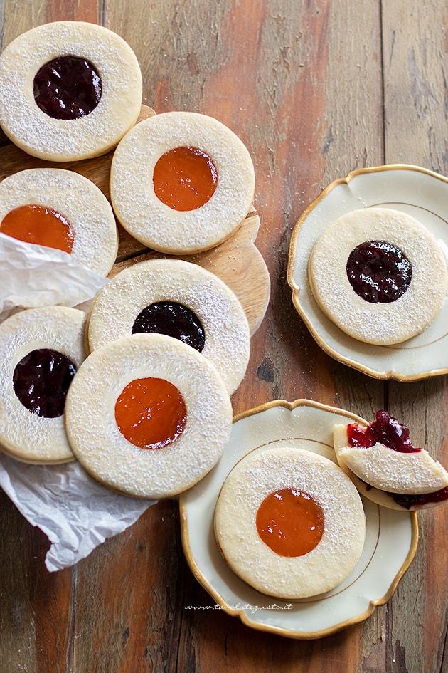 Biscotti occhi di bue-