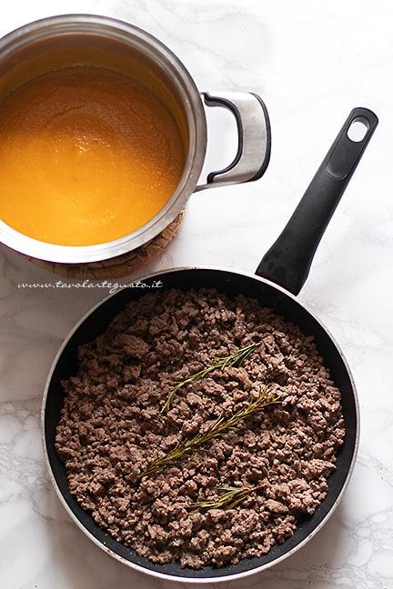come fare il ragù di carne e zucca
